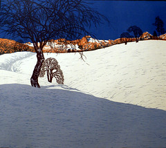 Josef Stoitzner, Hochgebirge (high mountains) (HEN-Magonza) Tags: germany deutschland hessen frankfurt hesse schirn highmountains hochgebirge farbholzschnitt colouredwoodcut josefstoitzner ausstellungkunstfralle exhibitionartforall