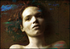 Life was colorful once... (bdira3) Tags: woman sad portait memories conceptual textured