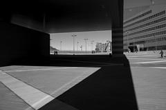 #Milano 2015 (Archineos) Tags: shadow urban blackandwhite bw milan blancoynegro monochrome architecture milano bn architettura biancoenero urbanlandscape ugovillani archineos piazzaginovalle