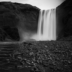 the shower  (explored) (jan.wallin) Tags: travel blackandwhite water monochrome landscape island is waterfall iceland outdoor nik suurland nikviveza2 lee6gndsoft nikond750 leelandscapepolariser afsnikkor16354gvr lee6nd2stop