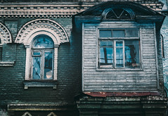 Gloomy & atmospheric house (UkrainianGentleman) Tags: old house buildings texture abandoned creepy scary timeworn atmospheric melancholy architecture dark wood windows colors leadlight decay rotten glass home wall broken ornament decor tracery garniture facade oppression disappointing balcony gloomy kiev       dwwg