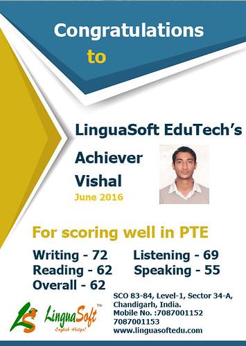 Vishal- Overall PTE Score 62