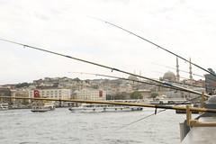 oltalar ve galata (sekerciozkan) Tags: city bridge turkey trkiye istanbul kpr fatih galata olta boaz bosphoros balk balk konstantinapolis sleymeniye