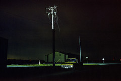 See The Light (Patrick J. McCormack) Tags: 120 film night analog truck landscape midwest glow fuji kodak portra gw690