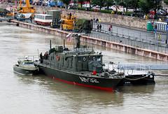 "AM-32 ""Dunafldvr"" (Pter_kekora.blogspot.com) Tags: nikon d60 70300mmvr budapest hungary danube siegeofnndorfehrvrpatrolboat river boat ship minesweeper nestinclass hungariandefenceforces 2016 july summer hunyadi"