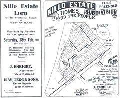 Nillo estate 1922 (maitland.city library) Tags: maitland new south wales lorn conservation planning study city council department environment estate plans subdivision land sales nillo enright auctioneer tegg agents allotments 1922