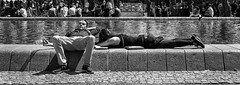 On a lazy Sunday afternoon (graatsie) Tags: museumplein amsterdam netherlands water lazy people sunday fujixt1 fujinon35mm