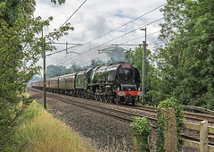 Iron Horse (4486Merlin) Tags: duchessofsutherland semi 46233 england europe exlms lms8pduchess northwest railways steam transport unitedkingdom wcml lancaster lancashire gbr cumbrianmountainexpress bayhorse