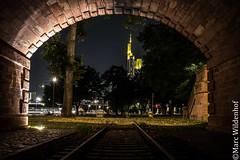 Frankfurt am Main - Mainufer - Hessen - Germany (Marc Wildenhof) Tags: frankfurtammain hessen deutschland de skyline nachtaufnahme nightshot langzeitbelichtung lichter tunnel canoneos7dmarkii hdr