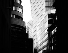 Town Before Country - London City Office Life by Simon & His Camera (Simon & His Camera) Tags: city office building bw blackandwhite black white shade shadow window walkietalkie london urban lines vignette architecture contrast dark glass skyscraper skyline monochrome outdoor simonandhiscamera tower dof