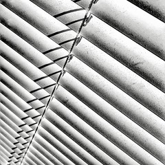 To follow by faith alone is to follow blindly  #photography #photooftheday #photo #blackandwhite #lines #abstract #abstraction #texture #repetition #repeatpattern (Andrea Kennard) Tags: instagramapp square squareformat iphoneography uploaded:by=instagram