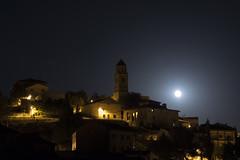 NOCTURNO  Jarque de la Val [ Explore] (Juan J. Marqués) Tags: nocturnas luna llena teruel cuencasmineras jarque