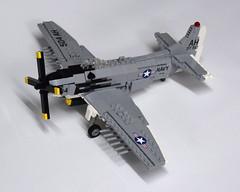 Douglas AD-6 Skyraider (3) (Dornbi) Tags: lego douglas ad6 a1h skyraider spad korea vietnam navy us