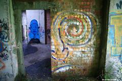 Het verzonken hotel / The sunken hotel (Red Cathedral uses albums) Tags: sony sonyalpha streetart alpha aztektv graffiti eventcoverage obstaclerun mudrun a850 redcathedral hetverzonkenhotel thesunkenhotel mechelen ruins urbex decay vrijbroekpark blue blauw contemporaryart