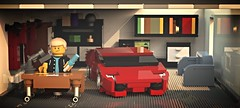 Back to the desk! (ron_dayes) Tags: lego life minfigure room interiour housing house furniture desk living car lamborghini aventador super race modular town city