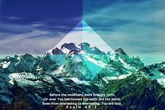 Psalm 90:2 (tcjakob) Tags: psalm 90 mountains earth world everlasting god blue snow green