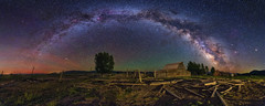 Moulton Barn Milky Way Panorama (skypointer2000) Tags: moultonbarn milkyway panorama milchstrasse grandteton grandtetonnationalpark wyoming astrophotography astronomy astro nightscape night landscape canon canoneos6d hutech astromodified tamronsp1530mmf28 skyglow longexposure sky lightpollution ptgui andromedagalaxy m31 northamericanebula ngc7000 ~themagicofcolours~vii
