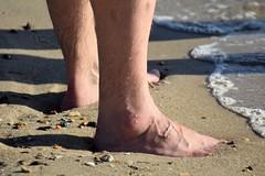 Huntington Beach (Tobyotter) Tags: huntingtonbeach jamesriver newportnews virginia barefoot male feet aaron