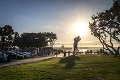Unconditional Surrender, San Diego (Tony__K) Tags: leica q sunset eisenstaedt thekiss unconditionasurrender sculpture americana kitsch tunapoint sandiego california color summilux f17