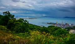 Da Nang (free3yourmind) Tags: danang vietnam city view hill nature green sea blue water clouds cloudy port