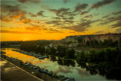 Sunset at Stockholm (Samarth Mediratta) Tags: ifttt 500px sunset terrace clouds evening summer travel citscape city water canal reflection orange scenic