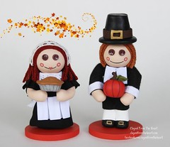 Clayed From The Heart Pilgims (thedollydreamer) Tags: clayedfromtheheart clay polymer sculpey doll figurine pilgrims thanksgiving fall thedollydreamer bridgetdellaero whimsical