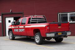 Skagway, Alaska (twm1340) Tags: skagway ak alaska fire department dept firefighter station engine pumper hero chevy chevrolet silverado pickup truck