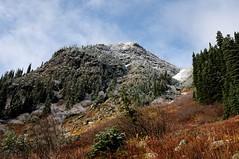 Late fall colors (YuriZhuck) Tags: autumn usa mountain snow color colour fall nature landscape us washington unitedstates hiking pass peak trail cascades wa northcascades heatherpass