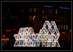 House of Cards (Ciao Anita!) Tags: friends light art netherlands amsterdam festival licht canal arte nightshot houseofcards kunst nederland jesuslovesyou kanaal luce olanda canale noordholland nachtopname kaartenhuis theperfectphotographer scattonotturno castellodicarte godroeptu amsterdamlightfestival20142015