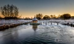 Fisherman hut - River Test Hampshire (Christopher Pope Photography) Tags: longexposure winter sunrise river frost hampshire stockbridge rivertest fishermanshut longstock