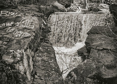 Top Cascade of the Falls, 2014.12.07 (Aaron G. Campbell (partially away)) Tags: ice water canon graffiti waterfall december pennsylvania sony sunday tint motionblur cascades lichen remembranceday 7th manualfocus icicles nepa toning 2014 solomoncreek luzernecounty wyomingvalley pearlharborday mirrorless fotodiox viveza a6000 fd200mmf4 ashleyborough nikcollection analogefexpro sonyalpha6000 ilce6000 fdtonexlensadapter