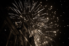 Happy New Year (Ukira) Tags: fireworks newyear happynewyear bulding