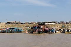 DSC03778 (Aaron_Choi) Tags: travel family winter people house lake tourism river asian boat fishing scenery asia cambodia cambodian village riverside speedboat floating lakeside unesco riverboat shack siemreap riverbank tonlesap tonlsap