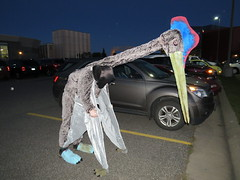 First test of azhdarchid costume in public (Pangaea 88) Tags: costume pterodactyl pterosaur quetzalcoatlus azhdarchid