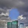 THE BLUE HOLE (Nespyxel) Tags: blue sky oslo norway clouds skyscrapers hole azure norvegia nespyxel stefanoscarselli