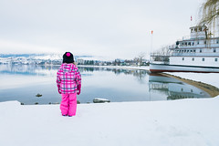 Big Wide World (douglasdrouin11) Tags: street city trip trees winter sunset portrait people woman lake canada man mountains color nature water silhouette contrast sunrise children landscape person boat kid nikon day ship colours shadows dof child bc view angle britishcolumbia okanagan background wide streetphotography wideangle vessel depthoffield explore portraiture transportation penticton foreground discover 2015