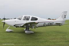 G-JONT - 2010 build Cirrus SR22 GX, taxiing for departure at Sywell during AeroExpo 2014 (egcc) Tags: green design northampton continental orm cirrus sr22 2014 sywell 3599 aeroexpo teledyne egbk io550 gjont n14ck