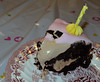 Schokoladentortenstück mit Zuckerüberzug (borntobewild1946) Tags: schokolade kuchen torte lecker dekoration geburtstagstorte geburtstagskerzen tortendekoration zuckersuess borntobewild1946 copyrightsbyberndloos tortenverzierung zuckerüberzug