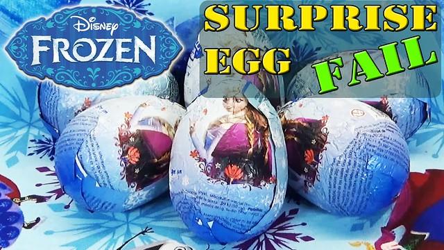 Disney Frozen Surprise Eggs FAIL Movie Olaf Anna Elsa Kinder Sorpresa Huevos by DisneyToyBox