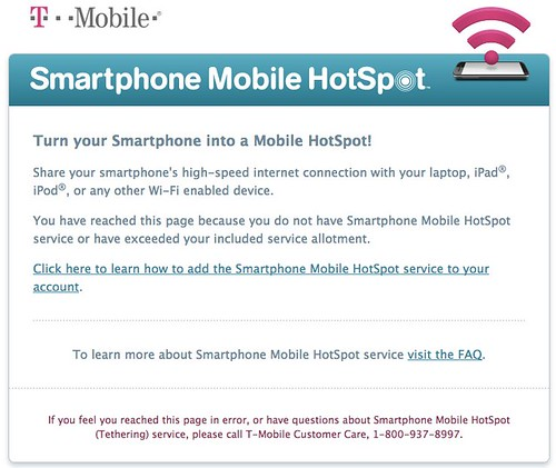 Exceeded T-Mobile Hot Spot Service Allot by Wesley Fryer, on Flickr