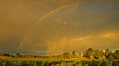 Rainbow over the Castle (Valley Imagery) Tags: sunset clouds vines wine australia winery southern valley grapes southaustralia barossa imagery lyndoch