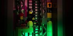 Ladder (Chris 'Beard') Tags: pink motion green underground climb punk lego stop animation ladder sewer cyber cyberpunk