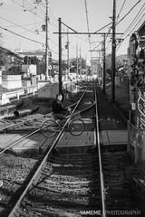On the way / Kyoto, Japan (yameme) Tags: travel monochrome japan train kyoto sony evil tram arashiyama   alpha kansai    keifuku nex  mirrorless  emount  nex6