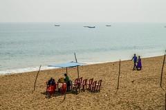 Gopalpur on sea (Sougata2013) Tags: life blue sea india travelling beach nature colors shop fun boat nikon tourist traveller enjoy ganjam bayofbengal gopalpur seabeach nikond3200 berhampur gopalpuronsea odisha