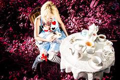 Return (CorneliaGillmannPhotography) Tags: red color rabbit girl fashion tattoo austria purple tea alice wonderland