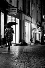 Le Mans by Night 12 (Barthmich) Tags: street france rain night 50mm fuji streetphotography pluie rue nuit lemans  lightroom pentaxk xe2