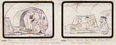 The Flintstones Storyboard Concept Art (Hanna-Barbera, 1960) (Space Mutt) Tags: cartoon animation storyboard bettyrubble fredflintstone barneyrubble hannabarbera theflintstones wilmaflintstone