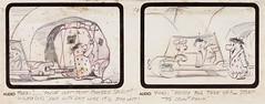 The Flintstones Storyboard Concept Art (Hanna-Barbera, 1960) (Space Mutt) Tags: cartoon animation storyboard bettyrubble fredflintstone barneyrubble hannabarbera theflintstones wilmaflintstone