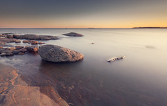 Isle of Furnace (Bunaro) Tags: ocean sunset water rock suomi finland landscape island helsinki long exposure isle waterscape uunisaari saari 1635l4