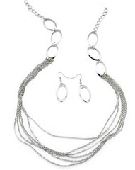 5th Avenue Silver Necklace P2210A-2